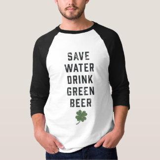Retten Sie Tag des Wasser-Getränk-Grün-Bier-| St T-Shirt