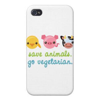 Retten Sie Tiere gehen Vegetarier iPhone 4 Hüllen