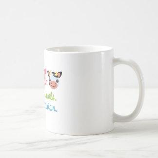 Retten Sie Tiere gehen Vegetarier Kaffeetasse