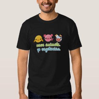 Retten Sie Tiere gehen Vegetarier Tshirt