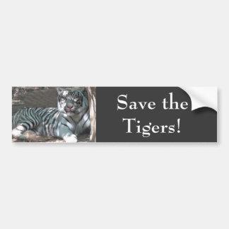 Retten Sie Tiger Autoaufkleber