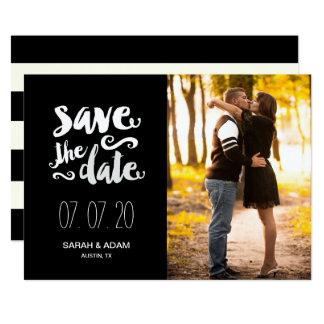Retten Sie unsere Foto-Save the Date Karte des
