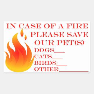 Retten Sie unsere Haustiere Rechteckiger Aufkleber