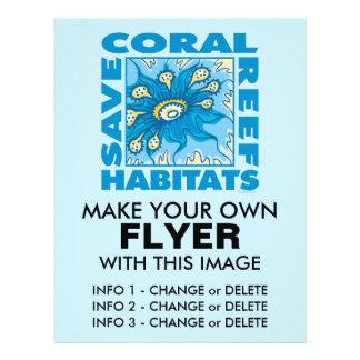 Retten Sie unsere Korallenriffe 21,6 X 27,9 Cm Flyer