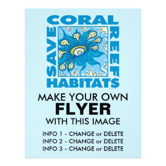 Retten Sie unsere Korallenriffe Flyerdruck