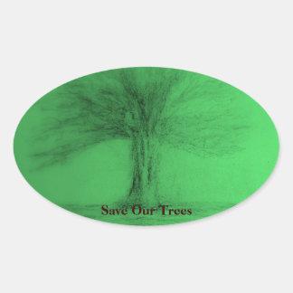 Retten Sie unseren Baum-Aufkleber