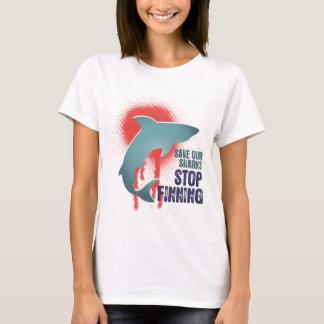Retten Sie unseren Haifischen Halt Finning T-Shirt
