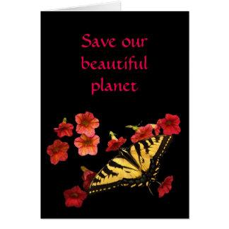 Retten Sie unseren Planeten-Schmetterling auf Karte