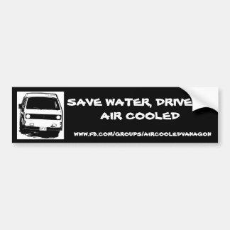 Retten Sie Wasser, fahren Sie eine abgekühlte Luft Autoaufkleber