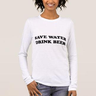 Retten Sie Wasser-Getränk-Bier Langarm T-Shirt