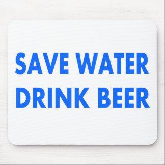 Retten Sie Wasser-Getränk Bier Mousepad