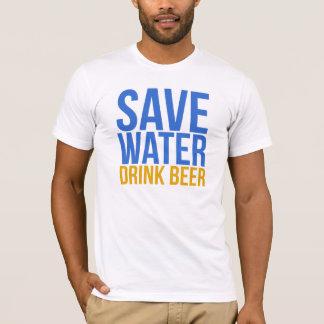 Retten Sie Wasser-Getränk-Bier-T - Shirt