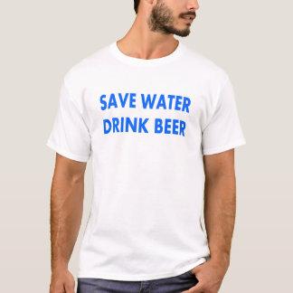 Retten Sie Wasser-Getränk Bier T-Shirt