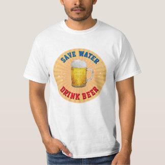 Retten Sie Wasser - Getränk-Bier T-Shirt