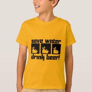 Retten Sie Wasser-Getränk-Bier! T-Shirt