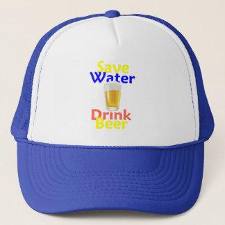 Retten Sie Wasser-Getränk-Hut Truckerkappe