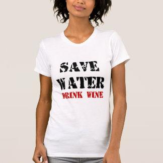 RETTEN SIE WASSER-GETRÄNK-WEIN T-Shirt