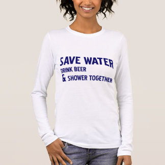 Retten Sie Wasser Langarm T-Shirt