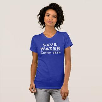 Retten Sie Wasser. Trinken Sie Bier. Lustiges T-Shirt