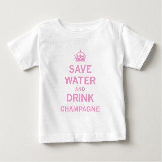 retten Sie Wassergetränkchampagner Baby T-shirt