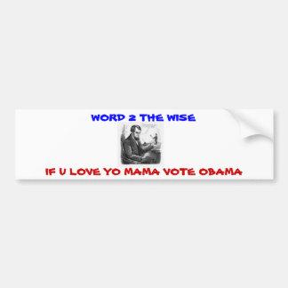 retten Sie yo Mutterabstimmung Obama Autoaufkleber