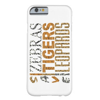 Retten Sie Zebras, Tiger, Leoparden iPhone 6 Fall Barely There iPhone 6 Hülle