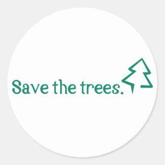 Rettet die Bäume Runder Aufkleber