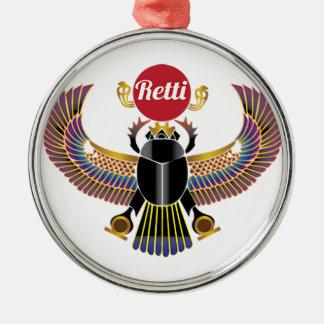 Retti Rundes Silberfarbenes Ornament