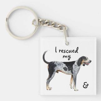 Rettung Bluetick Coonhound Schlüsselanhänger