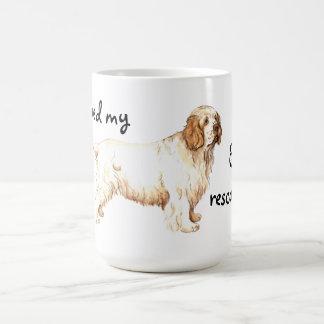 Rettung Clumber Spaniel Kaffeetasse
