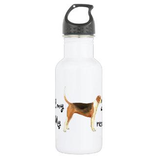 Rettungamerikanischer Foxhound Edelstahlflasche