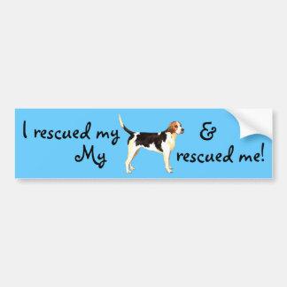 Rettungenglischer Foxhound Autoaufkleber