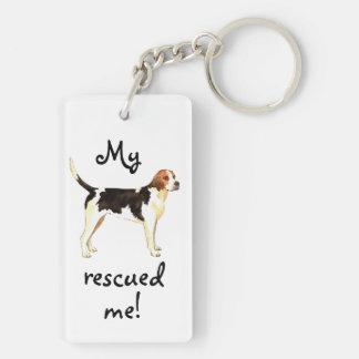 Rettungenglischer Foxhound Schlüsselanhänger