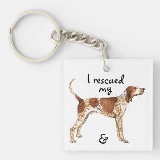 Rettungs-amerikanisches EnglischCoonhound Schlüsselanhänger