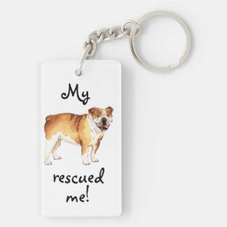 Rettungs-Bulldogge Schlüsselanhänger