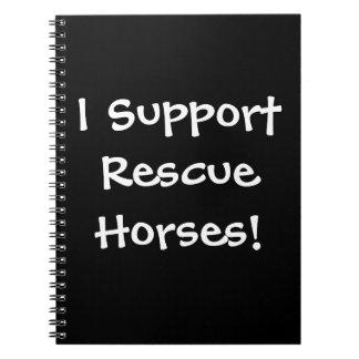 Rettungs-Pferdestütznotizbuch! Notizblock