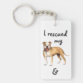 Rettungs-Pitbull Terrier Schlüsselanhänger