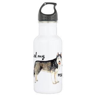 Rettungs-Schlittenhund Edelstahlflasche