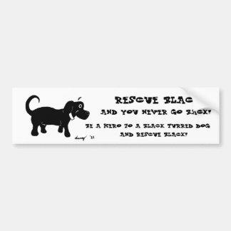 Rettungs-schwarze HundeAutoaufkleber Autoaufkleber