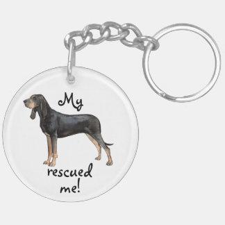 Rettungs-Schwarzes und TANCoonhound Schlüsselanhänger