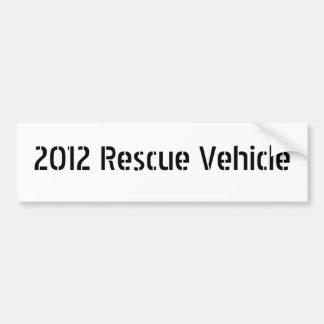 Rettungsfahrzeug 2012 autoaufkleber