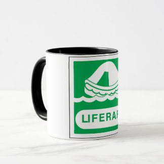 Rettungsfloß-Zeichen-Tasse Tasse