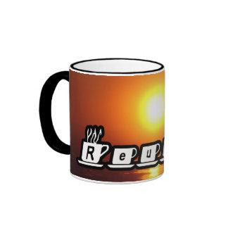 Reuben - am Sonnenuntergang Kaffeetasse