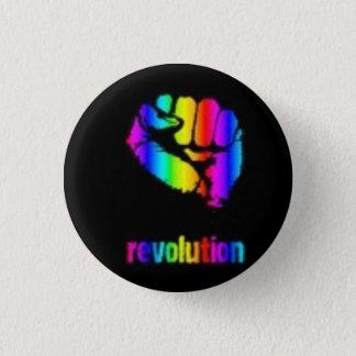 Revo Regenbogen-Knopf/Phoenix Runder Button 3,2 Cm