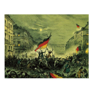 Revolution 1848 in Berlin Postkarte