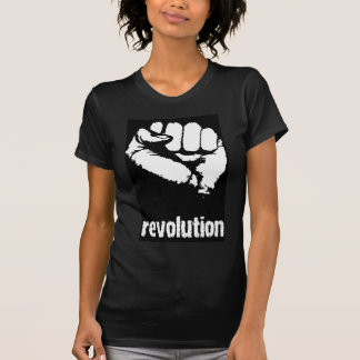 Revolution angehobene Faust T-Shirt