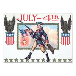 Revolutionäres Kriegs-Soldat-Flagge-Schild 12,7 X 17,8 Cm Einladungskarte