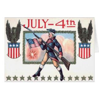 Revolutionäres Kriegs-Soldat-Flagge-Schild Karte