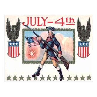Revolutionäres Kriegs-Soldat-Flagge-Schild Postkarten