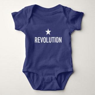 Revolutions-blaues Baby wachsen Baby Strampler